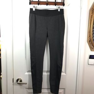Faux Leather Black and Gray Legging Medium
